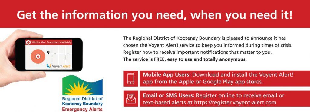 RDKB News Release: New Emergency Alerting System Voyent